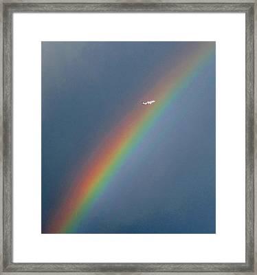 Rainbow Gods Promise. Framed Print by Joyce Woodhouse