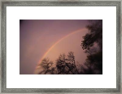 Framed Print featuring the photograph Rainbow by Heather Green