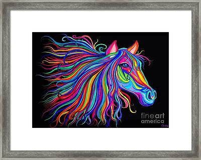 Rainbow Horse Too Framed Print