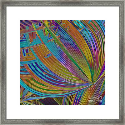 Rainbow Hues Abstract Framed Print by Deborah Benoit
