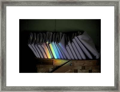 Rainbow In A Basket Framed Print