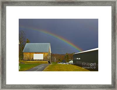 Rainbow In Maine Framed Print