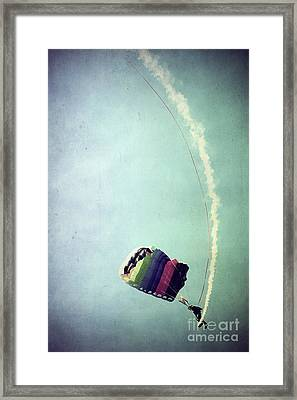 Rainbow In Motion Framed Print by Trish Mistric