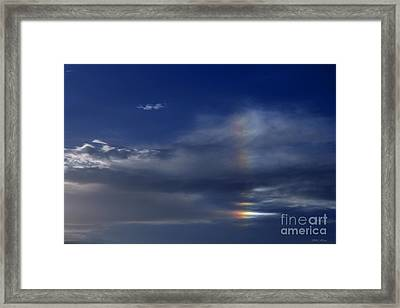 Rainbow In The Clouds Framed Print by Amanda Collins
