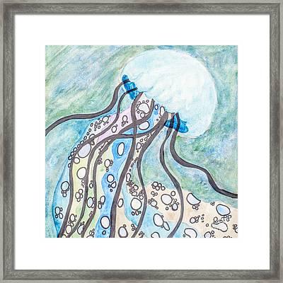Rainbow Jellyfish Framed Print by Amanda Elwell