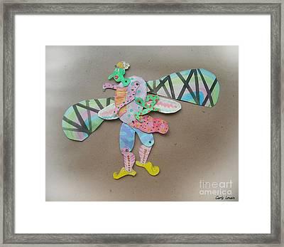 Rainbow Lady Bug 2003 Framed Print by Carly Lenain