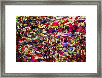 Rainbow Landscape Framed Print by Natalie Holland