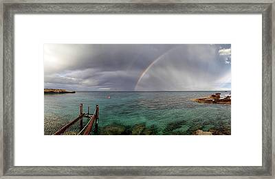 Rainbow Light Framed Print by Stelios Kleanthous