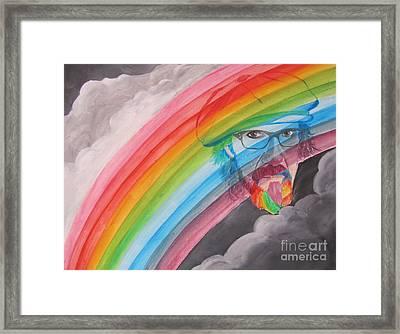 Rainbow Man Mark Hudson Framed Print