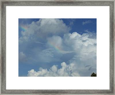 Framed Print featuring the photograph Rainbow by Michele Kaiser