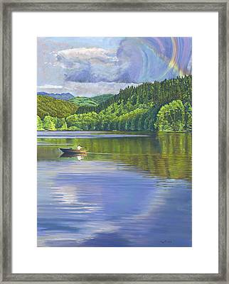 Lake Padden - View From The Alex Johnston Memorial Bench Framed Print