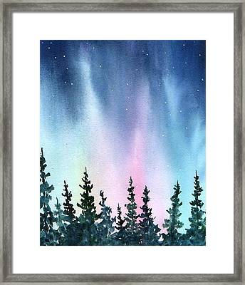 Rainbow Night Framed Print