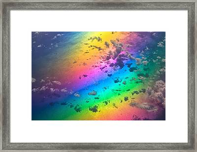 Rainbow Ocean Framed Print by Eti Reid