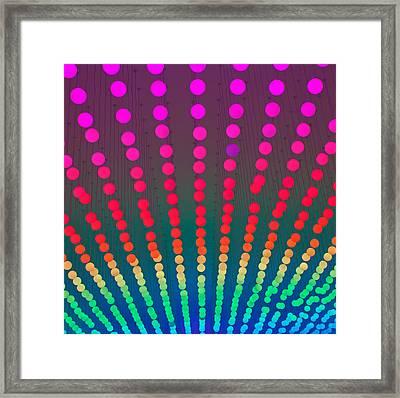 Rainbow Of Lights Framed Print by Jean Haynes