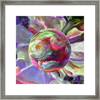 Rainbow Of Roses Framed Print by Robin Moline