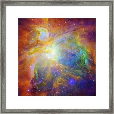 Rainbow Orion Framed Print by Georgia Fowler