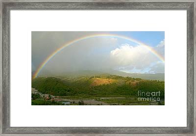 Rainbow Over Boquete Framed Print by Heiko Koehrer-Wagner