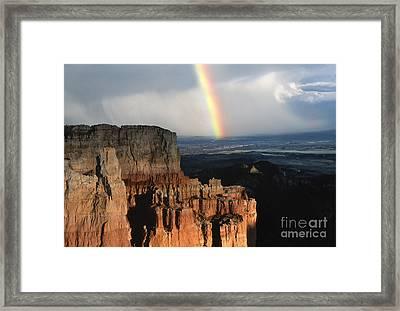 Rainbow Over  Bryce Canyon Framed Print