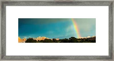 Rainbow Over Capitol Reef National Framed Print by Panoramic Images