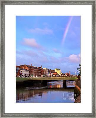 Rainbow Over Cork Framed Print