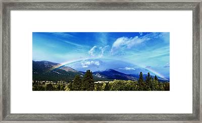 Rainbow Over Hamilton Montana Framed Print