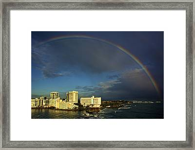 Rainbow Over San Juan Framed Print