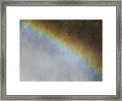 Framed Print featuring the photograph Rainbow Over The Falls by Laurel Powell