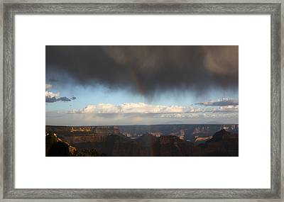 Rainbow Over The Grand Canyon Framed Print