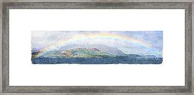 Rainbow Over The Isle Of Arran Framed Print