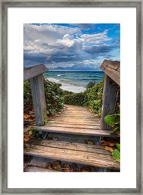 Rainbow Over The Ocean Framed Print