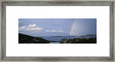 Rainbow Over The Sea, Pillsbury Sound Framed Print by Panoramic Images