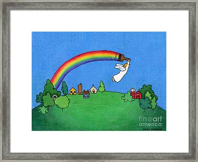 Rainbow Painter Framed Print by Sarah Batalka