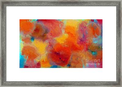 Rainbow Passion - Abstract - Digital Painting Framed Print by Andee Design