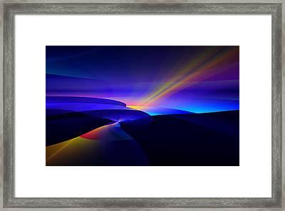Framed Print featuring the digital art Rainbow Pathway by GJ Blackman
