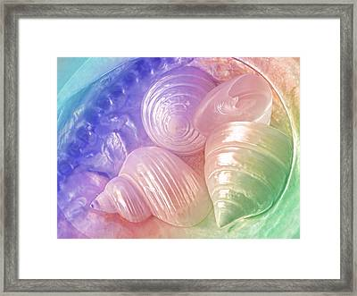 Rainbow Pearl Treasure Framed Print