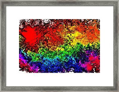 Rainbow Pieces Framed Print