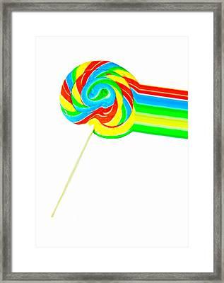 Rainbow Pop Framed Print by Diana Angstadt