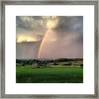 Rainbow Poured Down Framed Print