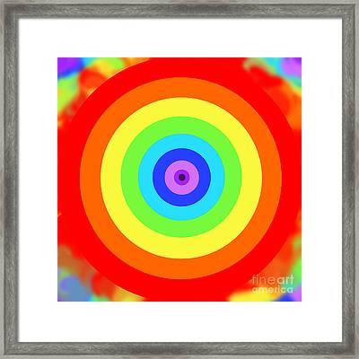 Rainbow Reality Framed Print by Mariola Bitner