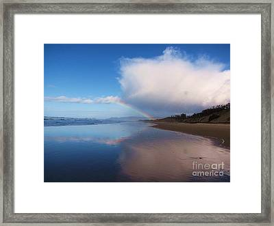 Rainbow Reflection Framed Print by Michele Penner