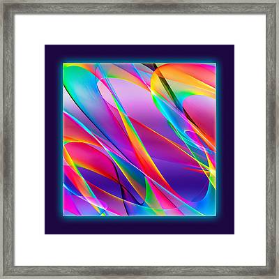 Rainbow Ribbons Framed Print