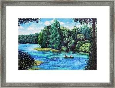 Rainbow River At Rainbow Springs Florida Framed Print by Penny Birch-Williams