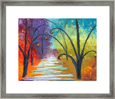 Rainbow Road Framed Print by Jessilyn Park