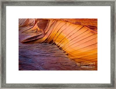 Rainbow Rocks Detail Framed Print by Inge Johnsson