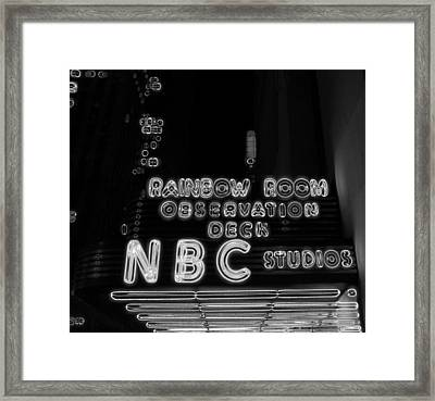 Rainbow Room Observation Deck New York City Framed Print by Dan Sproul
