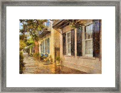 Rainbow Row Charleston Framed Print