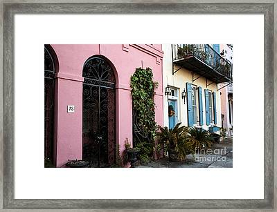 Rainbow Row Colors Framed Print by John Rizzuto