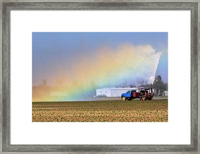 Rainbow Framed Print by Rudy Umans
