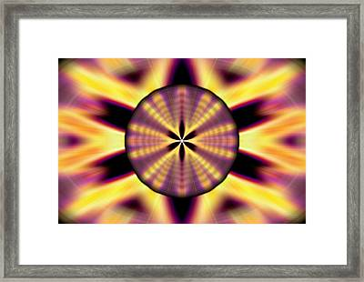 Framed Print featuring the drawing Rainbow Seed Of Life by Derek Gedney
