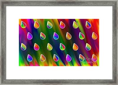 Rainbow Showers Framed Print